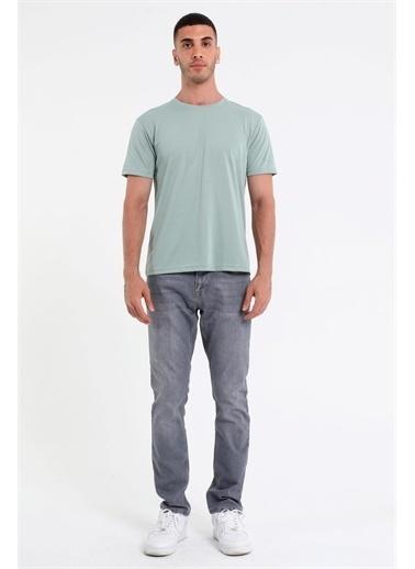 Rodi Jeans Erkek Bisiklet Yaka Basic T-Shirt Rd21Ye270930 Yeşil